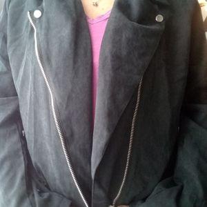 Vintage Jackets & Coats - Vintage lightweight moto style jacket